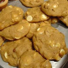 Pumpkin Cookies with White Chocolate