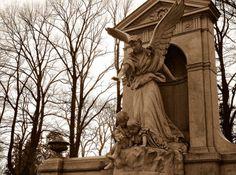 Guardian angel Sophia Biederman's tomb in an old cemetery Lodz, Poland