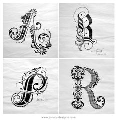 Lettering Project by Faheema Patel, via Behance
