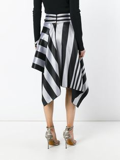 Proenza Schouler striped asymmetric skirt