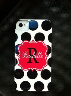 Personalized Monogram Cell Phone Case iphone 4 4s 3G by rrpage, $48.00
