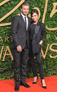 David & Victoria Beckham from 2015 British Fashion Awards Red Carpet Arrivals | E! Online