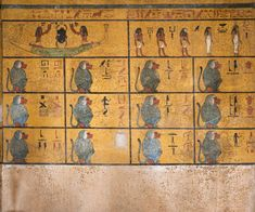 Inside the Tomb of TutankhamunThe burial chambers west wall...