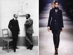 D'Annunzio with Cesare Pascarella, 1907; Dries Van Noten Fall 2016