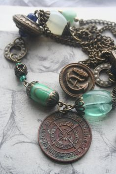 Your place to buy and sell all things handmade Coin Jewelry, Gothic Jewelry, Sea Glass Jewelry, Antique Jewelry, Vintage Jewelry, Handmade Jewelry, Jewellery, Celtic, Sea Glass Necklace