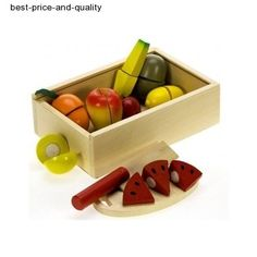 The Bigjigs Cutting Fruit set contains wooden fruit, a safe wooden knife and chopping board. Great fun for junior chefs. Wooden Play Food, Kitchen Games, Fruits For Kids, Candy Floss, Edible Arrangements, Wooden Kitchen, Pretend Play, Role Play, Toy Store