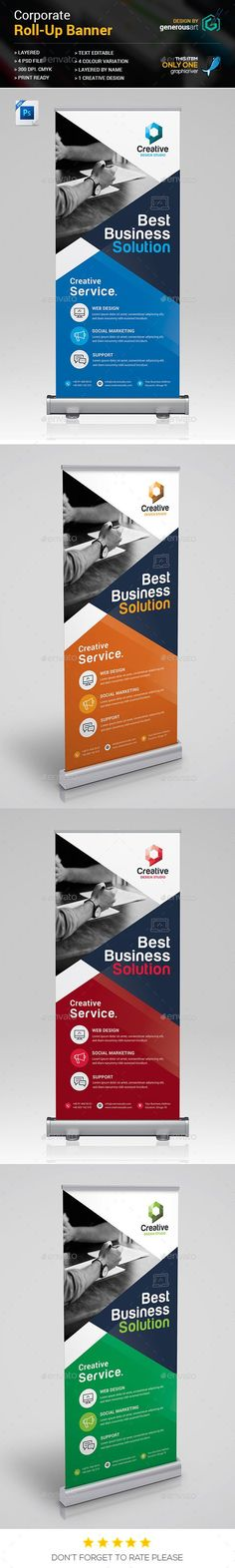 #Roll-Up #Banner - #Signage Print Templates