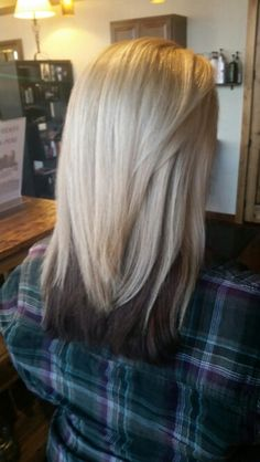 Blonde Top Dark Brown Underneath Hairstyles Pinterest