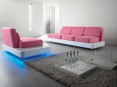 Upholstered polyurethane sofa with removable cover Quid Collection by Adrenalina | design Simone Mcheli