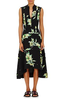 We Adore: The Lily-Print Silk Midi-Dress from Proenza Schouler at Barneys New York