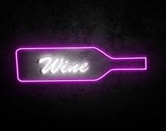 wine! yes please!  neon art #neon