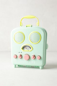 Tunes on the beach are a must, but who wants to get their technology sandy, salty and sunblock-y? Tuck your MP3 player inside this water-resistant AM/FM speaker box for your worry-free listening pleasure. $49.99