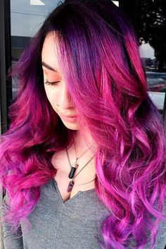 Gorgeous Options for Purple Ombre Hair ★ See more: http://glaminati.com/purple-ombre-hair-options/