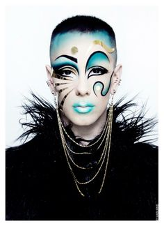 NYC Nightlife: Today And Days Past -- Ryan Burke, Rising Artist And Nightlife Personality Drag Queen Makeup, Drag Makeup, Maquillage Halloween, Halloween Makeup, Extreme Makeup, Kids Makeup, High Fashion Makeup, Theatrical Makeup, Make Up Art