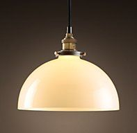 Option #3 for kitchen   -  Glass Dome Filament Pendant | Utility Pendants | Restoration Hardware