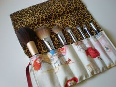 Pin up make up brush roll by HauteMessThreads on Etsy, $16.00
