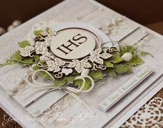 First Communion, Holi, Birthday Cards, Projects To Try, Shabby Chic, Scrapbooking, Place Card Holders, Kids, Children
