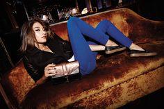Sky Jacket in Black | Jane Skinny Jean in Blue