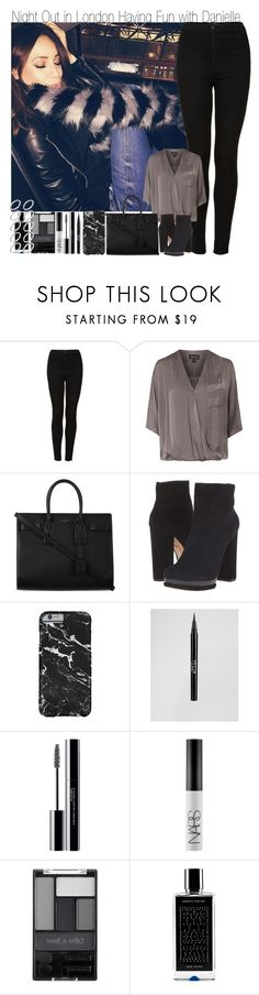 """""""About Me Tag & Night Out In London with Danielle"""" by elise-22 ❤ liked on Polyvore featuring Topshop, Yves Saint Laurent, Dolce Vita, Stila, shu uemura, NARS Cosmetics, Wet n Wild, Agonist, ASOS and country"""