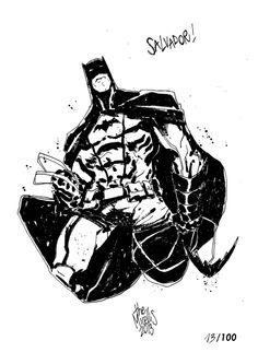 Sketchbook Sketch 2013: Batman! by alessandromicelli.deviantart.com on @deviantART
