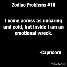 Zodiac problems / Capricorn Sun / Astrology