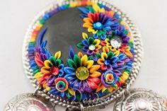 Tribal Hippie Gypsy Rainbow Necklace Earrings Set by DeidreDreams.deviantart.com on @deviantART