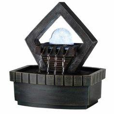 Water Fountains Indoor Floor Desktop Waterfall Fountains Tabletop Meditation #WaterFountainsIndoor