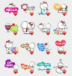 Bigli and Migli Stickers Set