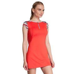 Women's Tail Painted Desert Allegra Tennis Dress, Size: Large, Red Overfl