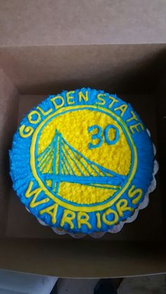 Golden state cake