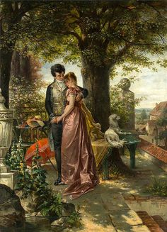 Find images and videos about art, vintage and painting on We Heart It - the app to get lost in what you love. Romantic Paintings, Classic Paintings, Beautiful Paintings, Victorian Paintings, Victorian Art, Art Amour, Molduras Vintage, Tableaux Vivants, Art Ancien