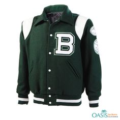 Green Newport #Varsity #Jacket