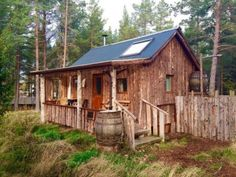 Woodman�s hut: Eco Cabin and Lightweight Camping Ground