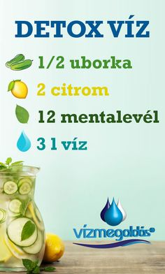 Tiszta étkezés - Detox víz recept - További receptekért látogass el a weboldalunkra. Chia Puding, Smoothie, Beauty Hacks, Clean Eating, Health, Food, Decor, Eat Healthy, Decoration