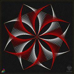 String Art Templates, String Art Patterns, Arte Linear, String Wall Art, Spiral Art, Graph Paper Art, Geometric Drawing, Spirograph, 3d Street Art