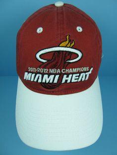 649e815296c55 Miami Heat 2012 NBA Champions Logo Hat New Officially Licensed Adidas  Headwear