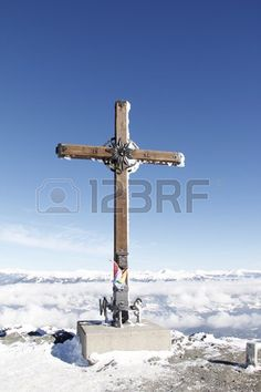 #Summit #Cross On #Top Of #Gold #Corner 2 142m #Spittal #Carinthia #Austria In #Winter @123rf #123rf #ktr15 @carinzia #goldeck #mountains #outdoor #nature #landscape #snow #wonderland #vacation #holidays #season #skiing #hiking #stock #photo #portfolio #download #hires #roaltyfree