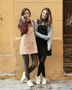 Tights Outfit Winter, Black Tights Outfit, Winter Outfits, Pantyhose Outfits, Black Pantyhose, Nylons, Pantyhosed Legs, Young Girl Fashion, Casual Dress Outfits