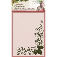 Crafter's Companion Sara Signature Traditional Christmas Collection - Holly Corner 5x7 Embossing Folder - Crafter's Companion from Crafter's Companion UK