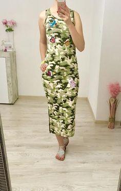 Dlhé army šaty Dresses, Fashion, Vestidos, Moda, Fashion Styles, Dress, Fashion Illustrations, Gown, Outfits