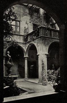 """vertigo1871: """"Friedrich von Thiersch, Hof in der Glaspalast- Ausstellung, München, 1897 """""""