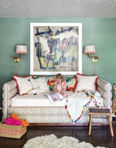 "A daybed is the perfect addition to a nursery during those ""I-might-as-well-just-sleep-in-there"" moments."