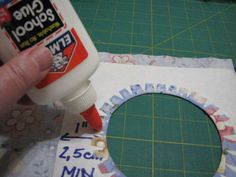~Tutorial for insetting a circle into a square using Freezer Paper and Glue