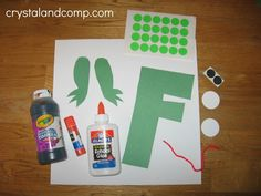 letter of the week craft F is for Frog - ideas for all letters FREE!