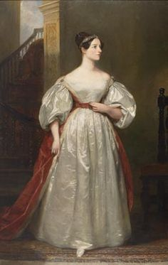 (Augusta) Ada King, Countess of Lovelace (1815-1852) Mathematician; Daughter of Lord Byron by Margaret Sarah Carpenter, 1836
