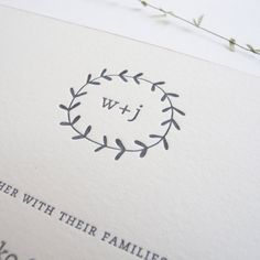 TWIG Letterpress Wedding Invitation Set.