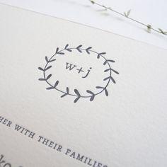 TWIG Letterpress Wedding Invitation Set.