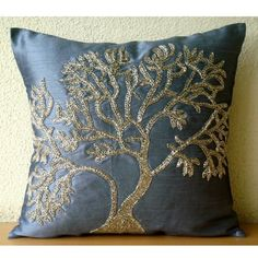 Paradise Tree -20x20 Inches Decorative Pillow Covers - Silk Pillow Cover Embellished with Beads The HomeCentric,http://www.amazon.com/dp/B00D0OTAXG/ref=cm_sw_r_pi_dp_obEotb0517211QPT