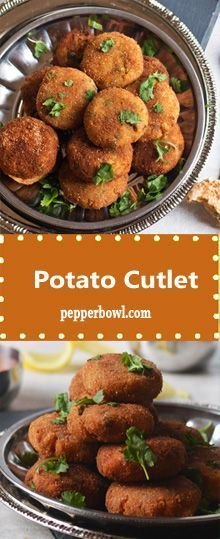 Potato Cutlet Recipe is the simple and easy Indian appetizer perfect companion for tea time, Potato Appetizers, Indian Appetizers, Vegetarian Appetizers, Appetizer Recipes, Party Appetizers, Pizza Recipes, Party Snacks, Aloo Recipes, Pakora Recipes