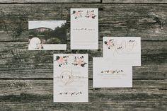 Blush, peach and floral wedding invitation suite // High Hampton Inn North Carolina